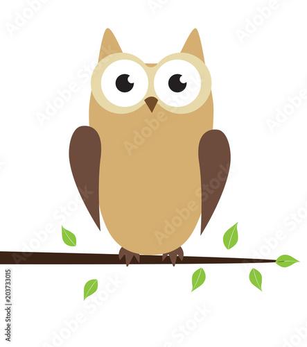 Tuinposter Uilen cartoon Vector Owl Bird