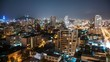 Santiago at Night Timelapse with Moon, Chile. Tilt Shift and Camera Movement