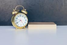 Alarm Clock Old Vintage Gold A...