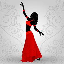 Woman Dancing Oriental Dances