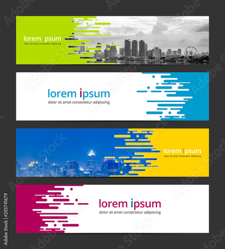 Banner design template abstract background. Corporate business web ...