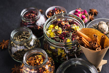 A Set Of Various Herbal And Fr...
