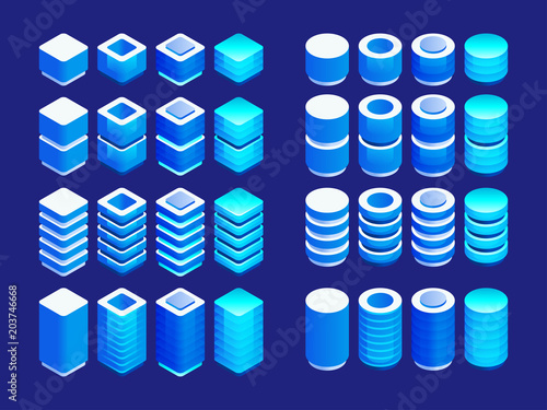 fototapeta na szkło Isometric elements