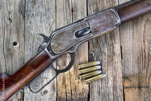 Photo Antique 1876 Rifle.