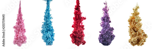 Fototapeta color splashes of ink obraz