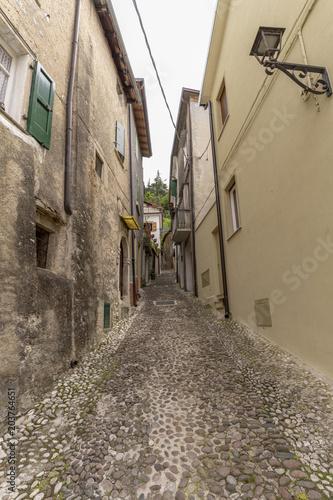 Deurstickers Smal steegje Gasse Italien