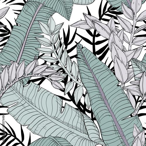 wzor-kwiatowy-liscie-tropikalnych-roslin