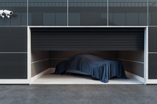Modern Garage Interior With Car
