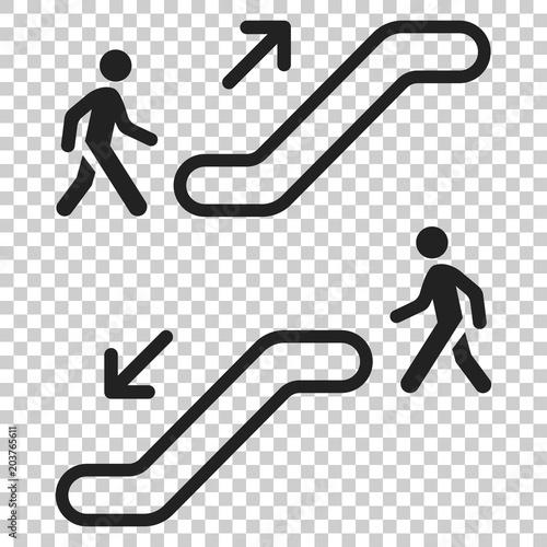 Escalator elevator icon Canvas Print