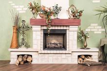 Decorative Beautiful Fireplace...