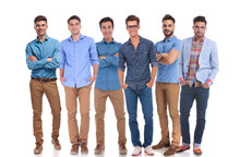 Group Of Six Young Casual Men ...