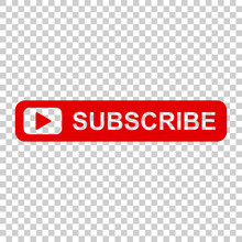 Subscribe Button Icon. Vector ...