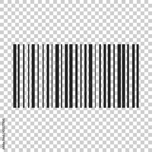 Barcode product distribution icon. Vector illustration on isolated transparent background. Business concept barcode pictogram. Wall mural