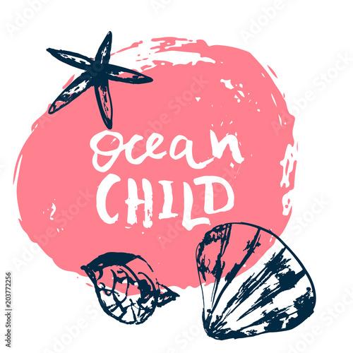 ocean-child-odreczny-napis-w-stylu-grunge-muszelki