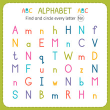 Find And Circle Every Letter N...