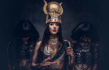 Portrait of haughty Egyptia...