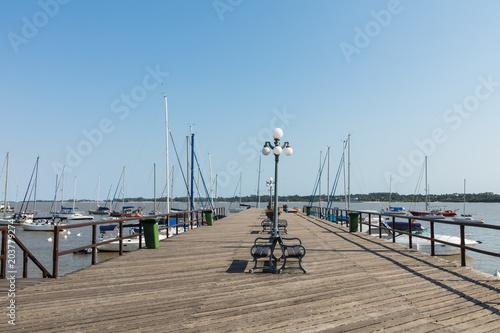 Poster Poort Pier at Marina - Colonia del Sacramento, Uruguay