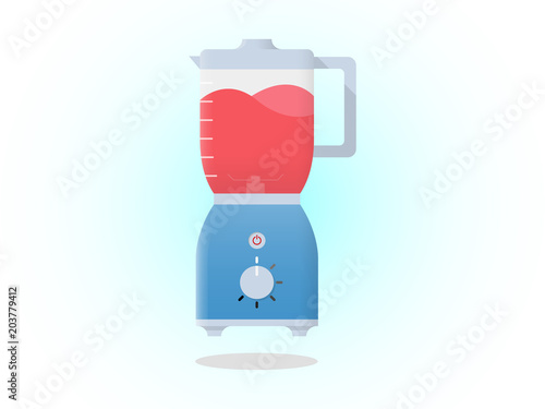 Photo  Blender with juice Vector Icon