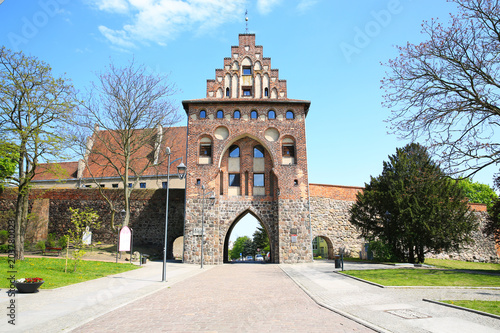 Canvas Prints Artistic monument Historic town gate in Stargard Szczecinski, Pomerania, Poland