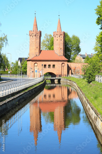 Medieval town gate in Stargard Szczecinski, Pomerania, Poland