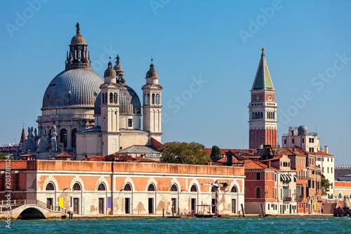 Staande foto Stockholm Santa Maria della Salute and St. Mark's Campanile in Venice, Italy.