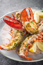 Grilled Lobster Tails Baked In...