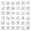 building construction vector outline icon set 2/3