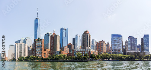 Tuinposter New York City Lower Manhattan Skyline, NYC, USA