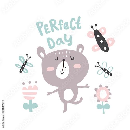 ilustracja-dziecieca-w-skandynawskim-stylu-mis-napis-perfect-day