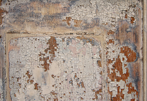 Deurstickers Oude vuile getextureerde muur background of old grunge wooden texture. part of antique old door. For photography product backdrop.