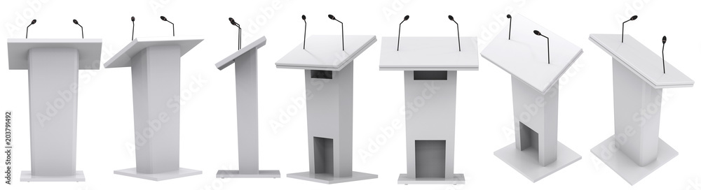Fototapeta podium with microphone