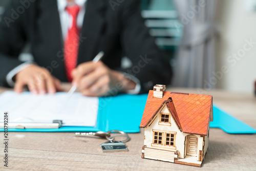 Zdjęcie XXL Banki zatwierdzają kredyty na zakup domów. Pojęcie nieruchomości