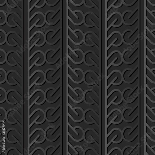 3d-ciemnego-papieru-sztuki-curve-round-cross-tracery-frame-line