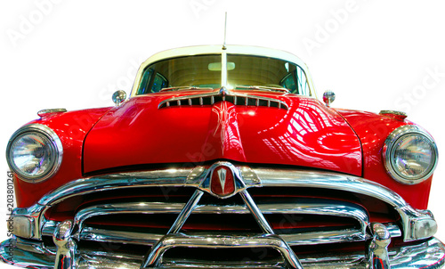 Photo Stands Vintage cars Oldtimer Car isolated on white background