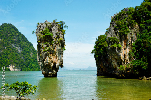 Foto op Aluminium Eiland James bond Island or Khao Tapu In Phang Nga Bay Thailand.