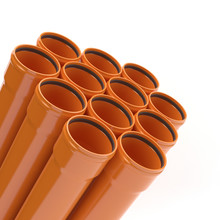 Orange Lastic Pipes For Sewera...