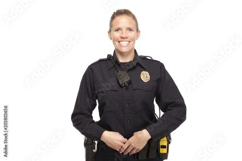 Fototapeta Happy female police officer