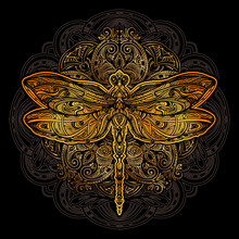 Dragonfly Vector Tattoo