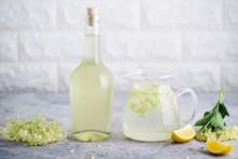 Homemade Elderflower Cordial With Fresh Elderflowers