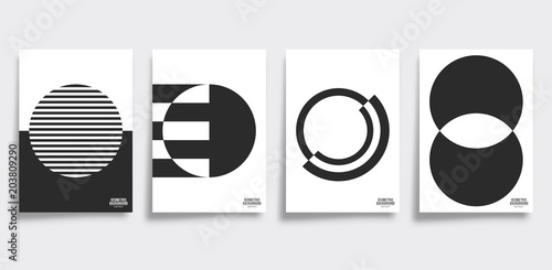 Minimal geometric cover template set Canvas Print