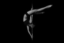 Young Slim Sexy Pole Dance Woman