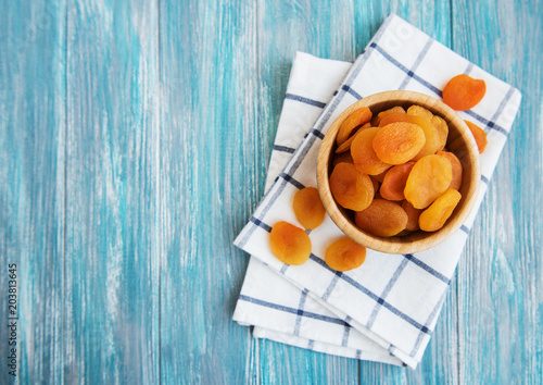 Dried apricots on a table Fototapete
