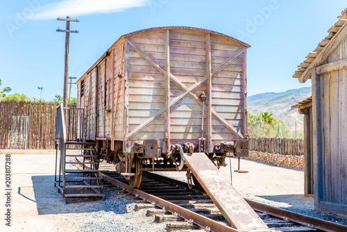 old train tracks and old vagon