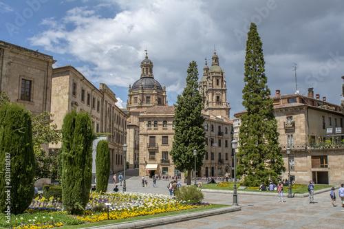 Salamanca, Spain; 05 06 2018: Paisaje urbano del centro de Salamanca, visto desde la Catedral, España