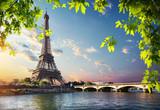 Fototapeta Fototapety z wieżą Eiffla - Eiffel Tower and bridge