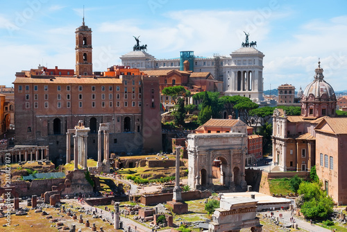 Ancient ruins Roman Forum Poster