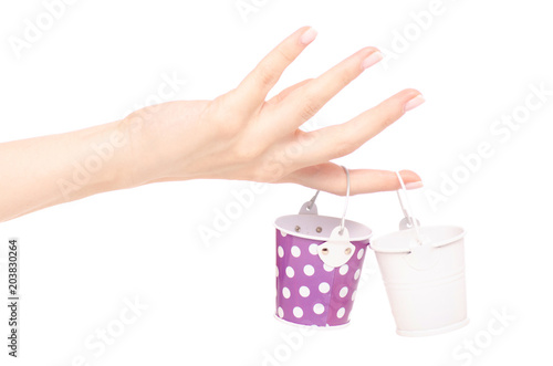 Fototapety, obrazy: Small buckets in a hand