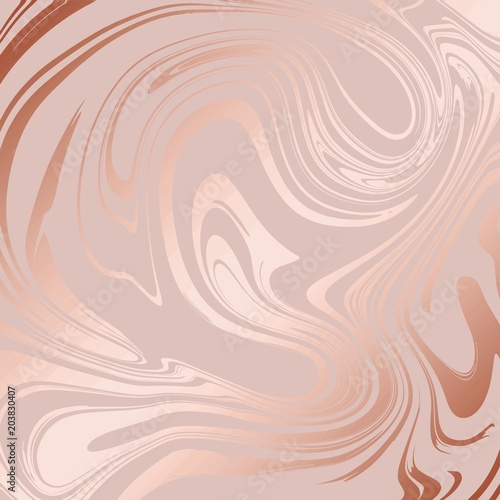 Obraz na plátně Texture of marble with imitation of rose gold