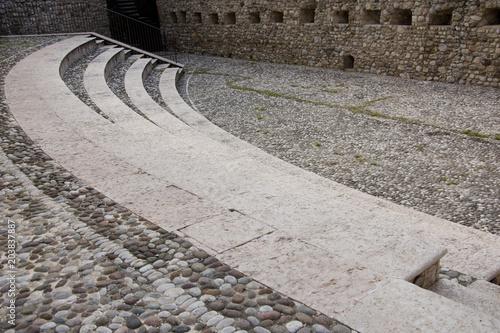 Deurstickers Theater scalinata di anfiteatro