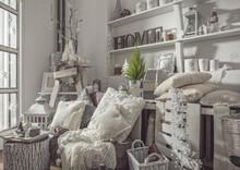 Interior Decoration In White S...